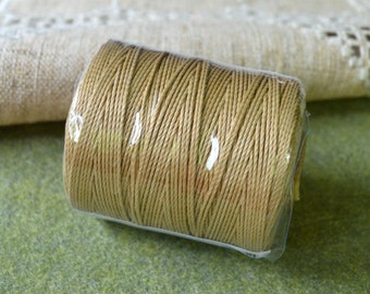 Twine Craft Thread 3-ply Bonded Cording Beige 2-Ounce Spool 160 Yards 1mm Diameter