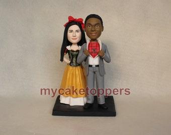 custom wedding cake topper, cake topper for wedding, custom cake topper, bride and groom cake topper, spiderman, mini you, snowwhite