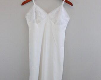 Vintage White Lacy Sheer slip by Vanity Fair