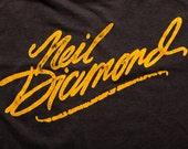 Neil Diamond on Tour T-Shirt, Rock & Roll Singer Songwriter, Vintage 80s