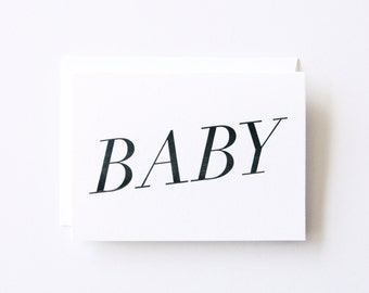 Baby - Letterpress Printed Greeting Card