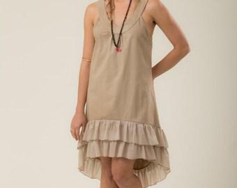 Bohemian Moonlight Dress - gypsy dress - women's clothing - linen dress