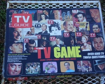 TV Guide TV Game 1984 board game with instructions over 6000 TV trivia questions Family fun game for 2 or more players How much do you know
