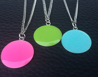 Pop of color Pink / Lime / Pale Shimmery Turquoise Resin - you pick the color you want This listing is for one of the colors