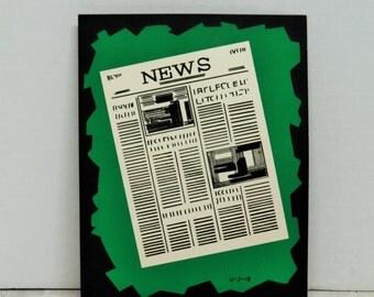 Vintage 1960's Advertising, Comic, Art, Presentation Materials, Newspaper