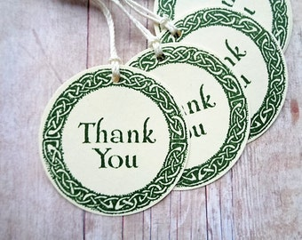 Thank You Tags Celtic Wedding Irish Party Favor Tag Celtic Knot