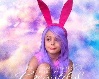 Pink Bunny Ears Headband - Rabbit ears Headband