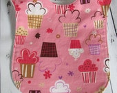 Ready to Ship // Kaufman Cupcake Adjustable Bib