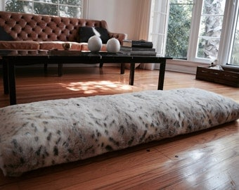 Long FAUX FUR Lumbar Floor Pillow