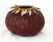 Feather Fantasy Gourd Bowl (1471)