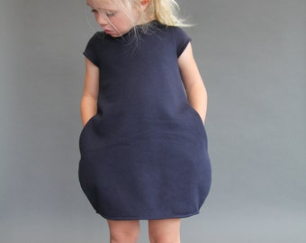 Sample SALE Cocoon dress 3T ready to ship jumper fall navy 3y
