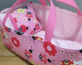 Doll Carrier, Bitty Baby Size,  Ladybug, Pink Lining