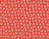 SALE Biscuit daisy in red from the Strawberry Biscuit fabric collection by Elea Lutz for Penny Rose