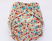 Folk flowers one size PUL cloth diaper cover OS rainbow folkloric flowers ready to ship