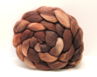 Handpainted Polwarth/Mohair/silk Top Spinning Fiber 4 oz