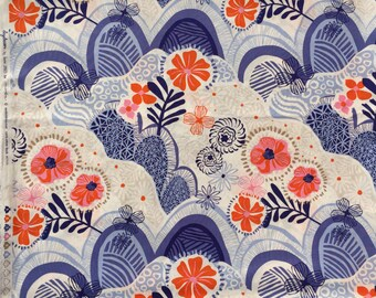 Daydream Kate Spain Hills Valleys ink & pink moda fabrics FQ or more