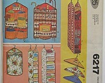 Vintage 1978 Closet Organizers Accessories, Laundry Bag, Hanger Covers, Shoe Storage McCalls 6217 Sewing Pattern UNCUT