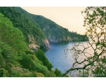 Fine Art Color Landscape Photography of a View From the Trail Along the Cinque Terre in Italy