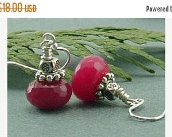 20% Off Sale Jewelry, Earrings, Ruby Earrings, Ruby Earrings On Sterling Silver Ear Wires, Ruby Jade Earrings, Gift For Her, Bridesmaids Gif