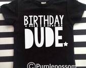 Birthday Dude Shirt Hipster kids birthday shirt boys birthday shirt birthday dude tshirt kids birthday shirt birthday dude hipster shirt
