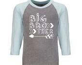 Big brother arrow shirt hipster big bro shirt big brother pregnancy announcement shirt pregnancy reveal shirt big brother shirt Raglan Shirt