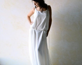 Wedding Dress, Boho wedding dress, Ethereal wedding dress, tunic wedding dress, grecian wedding dress, fairy wedding dress