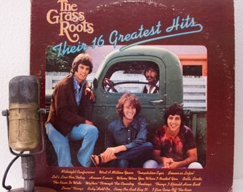 "ON SALE The Grass Roots Vinyl Record Album 1960s Psych Folk Pop Rock and Roll ""Their 16 Greatest Hits""(1980 MCA re-issue w/""Let's Live For T"