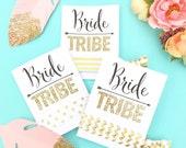 Bride Tribe Single Set 1 card Hair Ties Bachelorette Party Favors Accessories Hair Bridesmaids Bohemian Glitter Boho Tribal Aztec