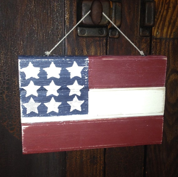 Items similar to American Flag Home Decor Fourth of