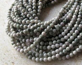 Peace Jade, Gemstone Beads, Jewelry Making Beads, Craft Supply, Jewelry Supply,  Beads for Designing,  Round Beads, Ball Beads, Green White