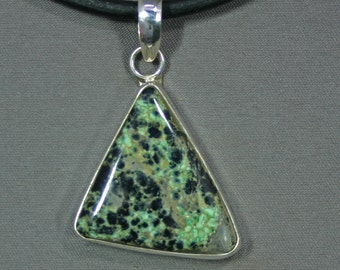 Turquoise and sterling Candelaria mine pendant,  JS-pd-031