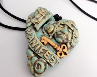 Heart of Stone Manifesting pendant by Marie Segal