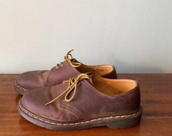 Vintage Brown Dr. Martens England  lace up shoes size Men US 12/UK 10