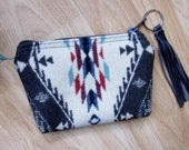 Medicine Bag, Totem Pouch, Coin Zippered Change Purse Spirit of the People 6 x 4.25