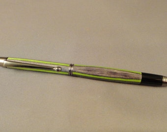 Soft Touch Stylus and Twist Pen Combination - Laminated Wood