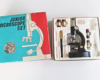 Vintage 1960's Junior Microscope Set