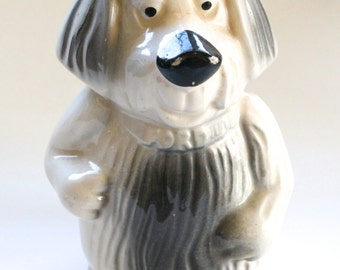 Vintage 1950's Ford Advertising Ceramic Dog Coin Bank!