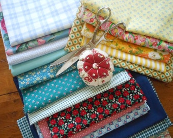 Quilting/Sewing Fabric Destash Lot Vintage/Newer Material Free Shipping