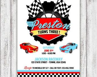 Race Car Party Invites