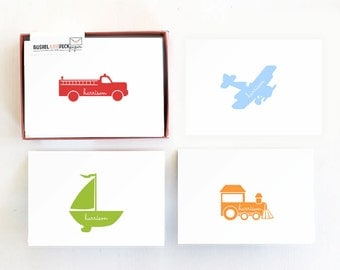 Planes, Trucks, Boats, and Trains Stationery Set