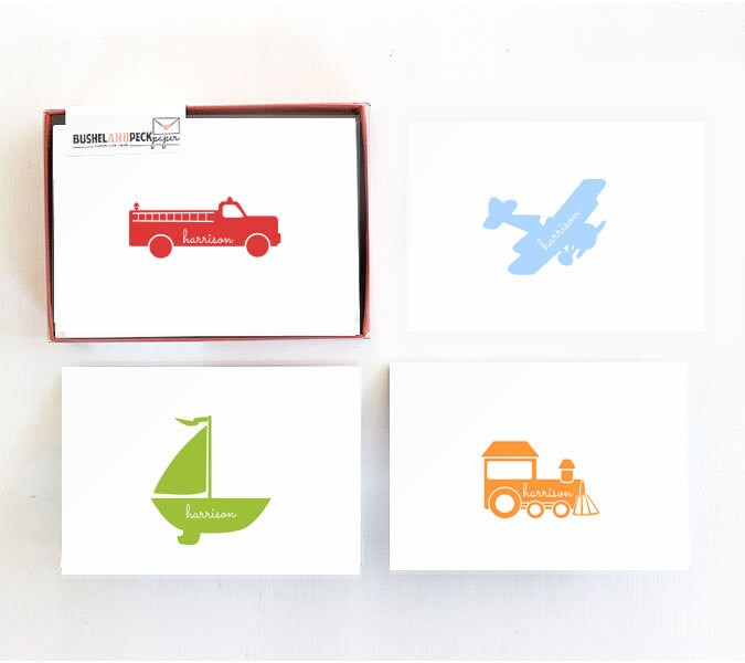 http://www.bushelandpeckpaper.com/item_460/Planes-Trucks-Boats-and-Trains-Stationery.htm