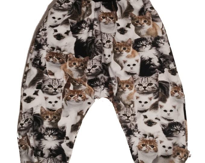 Baby kids toddler girl boy clothing harem pants baggy pants sweat pants. Size preemie - 3 y