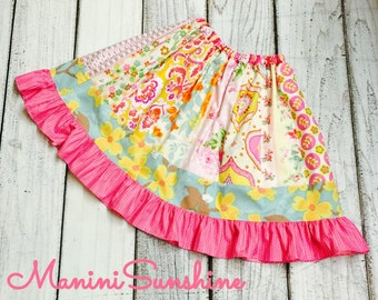 Meadow  Patchwork Skirt