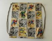 Marvel Comics Avengers Spiderman Xmen Wolverine Drawstring Backpack - CLEARANCE -