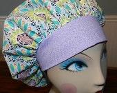 Geo Fabulous  Banded Bouffant Surgical Cap by Nurseheadwear Bakers Cap