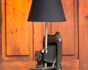 Kodak No 1 Autographic Jr Camera Lamp, Camera Lamp, Table Lamp, Vintage Camera Lamp