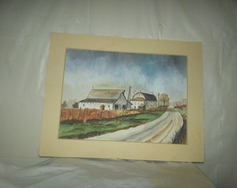 Vintage painting water color