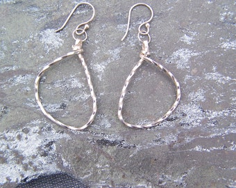 Twisted Sterling Silver Hoops: READY TO SHIP