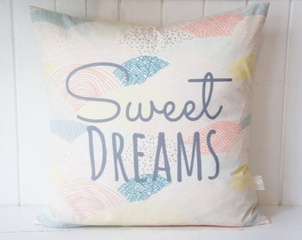 Sweet Dreams Pillow Cover, 20x20, Pastels