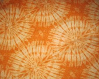 Orange and Cream Tie Dye Pattern with Orange Fleece Blanket - Ready to Ship Now